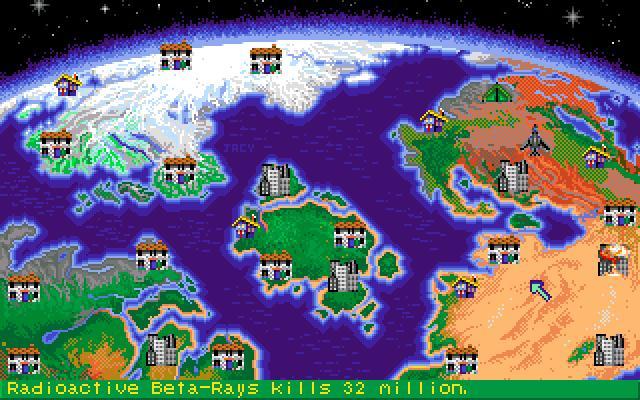 Nuclear War kylmä sota peli kuvankaappaus karttta