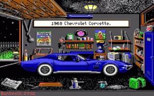 Street rod garage car chavrolet corvette
