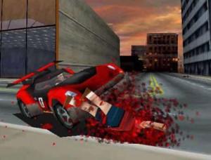 Carmageddon 2 Autolla ajo jalankulkijan yli