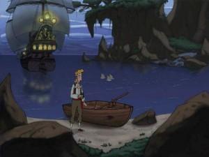 Curse of Monkey Island Soutuvene Ranta Laiva