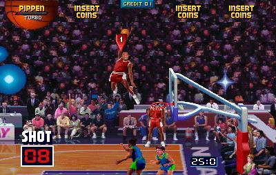 NBA Jam koripallo donkkaus