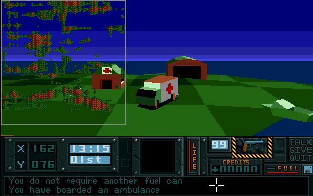 Hunter Amiga Atari Sotapeli 3D Ambulanssi