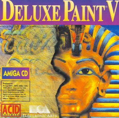 Deluxe Paint Faarao kuvankäsittelyohjelma Kansi