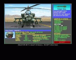 Gunship 2000 Helikopteri varustus