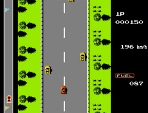 Road Fighter NES Moottoritie
